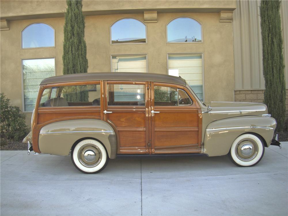 1941 FORD WOODY WAGON - Side Profile - 93380