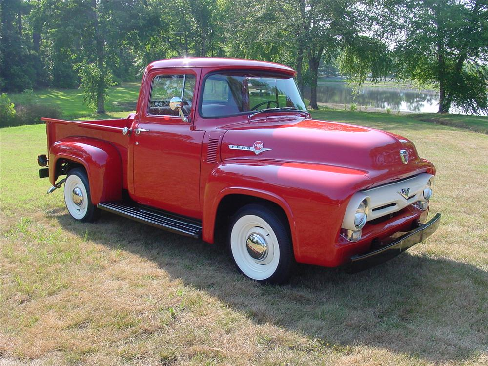 1956 FORD F-100 PICKUP - Front 3/4 - 93382