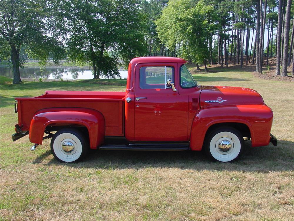 1956 FORD F-100 PICKUP - Side Profile - 93382