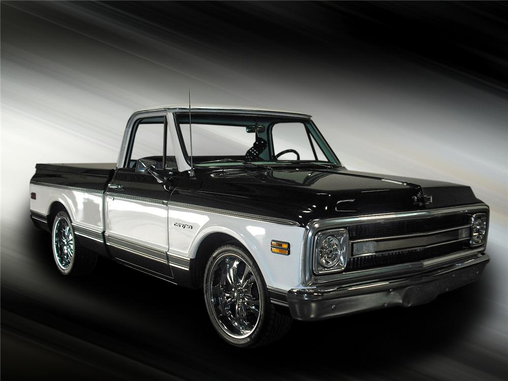1969 CHEVROLET C-10 CUSTOM PICKUP - Front 3/4 - 93387