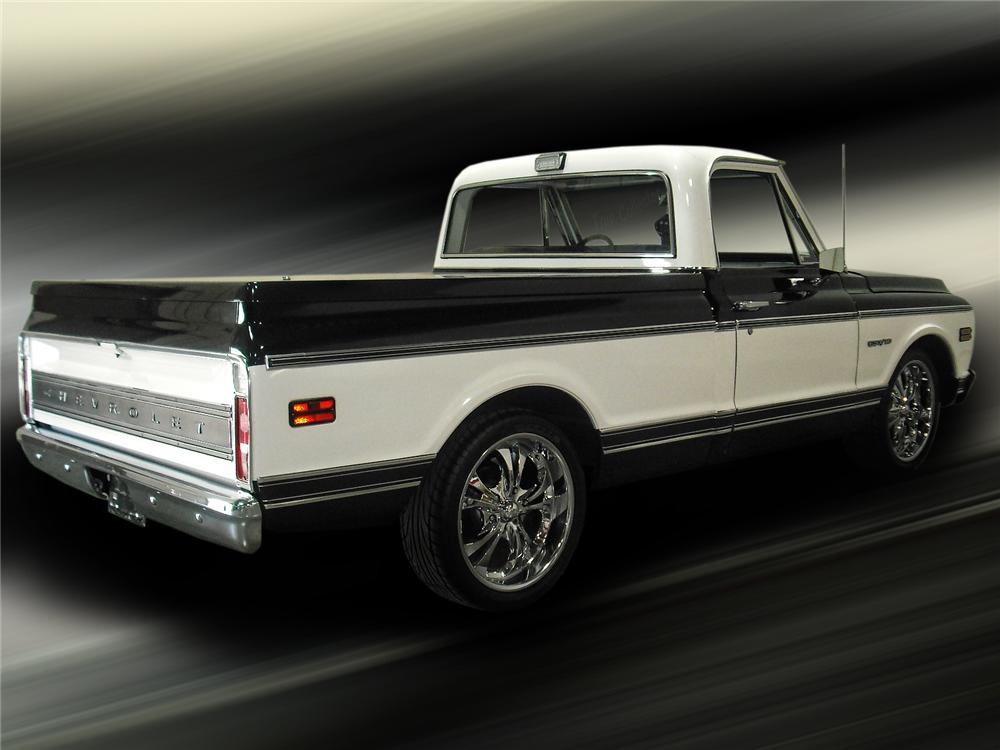 1969 CHEVROLET C-10 CUSTOM PICKUP - Rear 3/4 - 93387