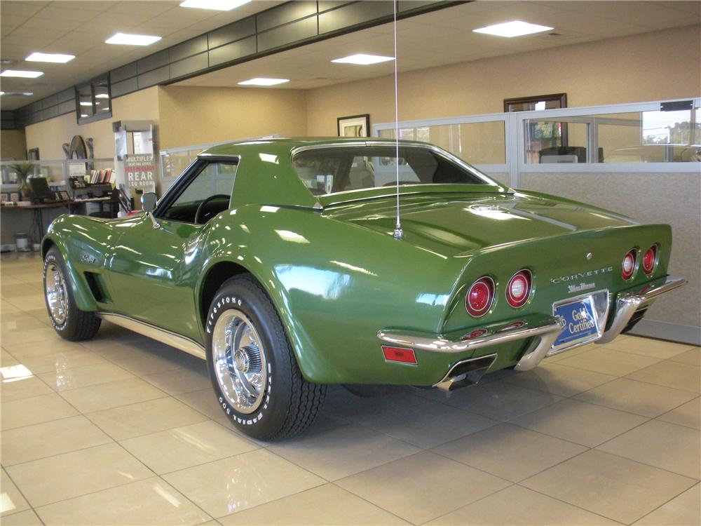 1973 CHEVROLET CORVETTE CONVERTIBLE - Rear 3/4 - 93391