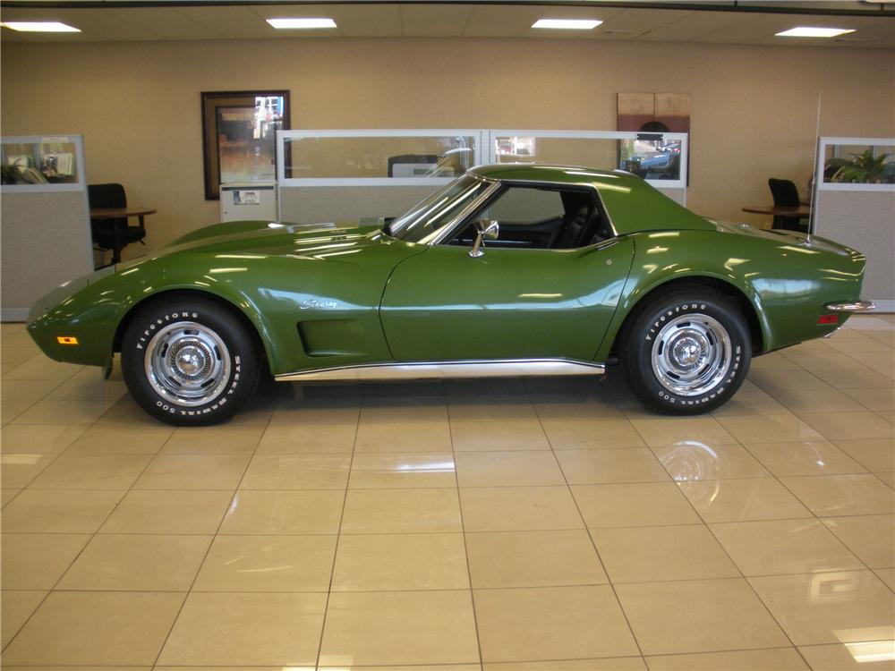 1973 CHEVROLET CORVETTE CONVERTIBLE - Side Profile - 93391