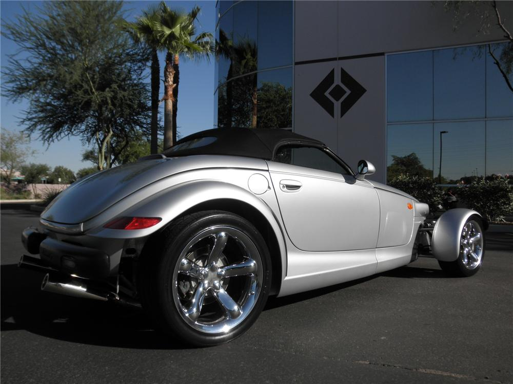 2000 PLYMOUTH PROWLER CONVERTIBLE - Rear 3/4 - 93395