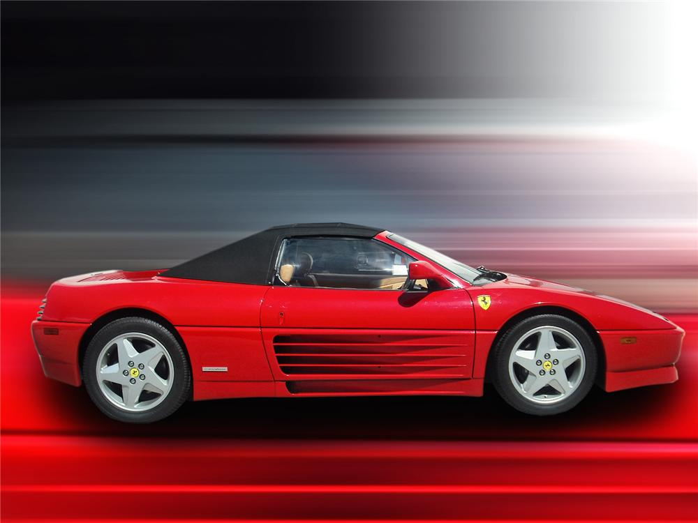 1994 FERRARI 348 SPYDER CONVERTIBLE - Side Profile - 93414