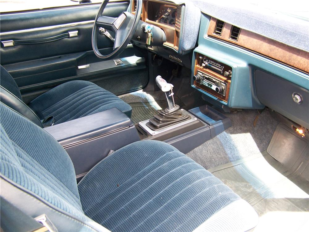 1985 CHEVROLET EL CAMINO CUSTOM PICKUP - Interior - 93417