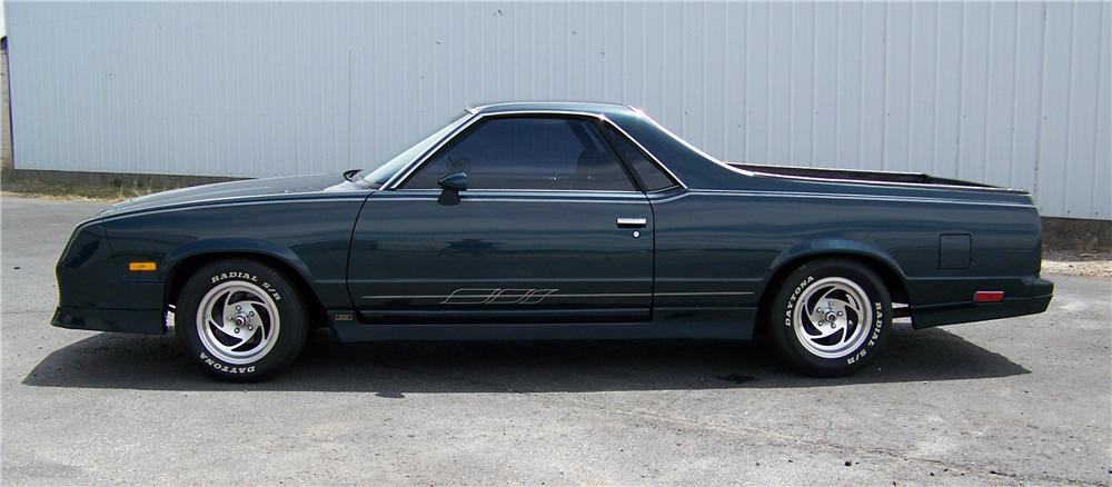1985 CHEVROLET EL CAMINO CUSTOM PICKUP - Side Profile - 93417
