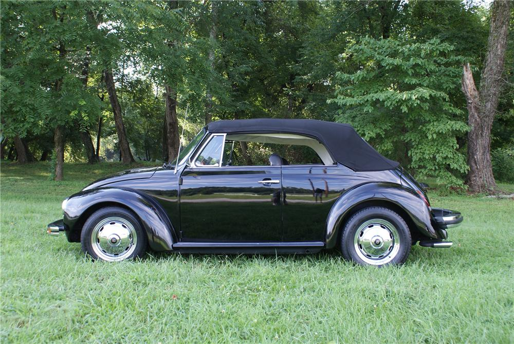1979 VOLKSWAGEN BEETLE CONVERTIBLE - Side Profile - 93421