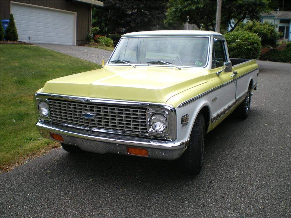 1972 CHEVROLET C-10 LONG BED PICKUP - Front 3/4 - 93439