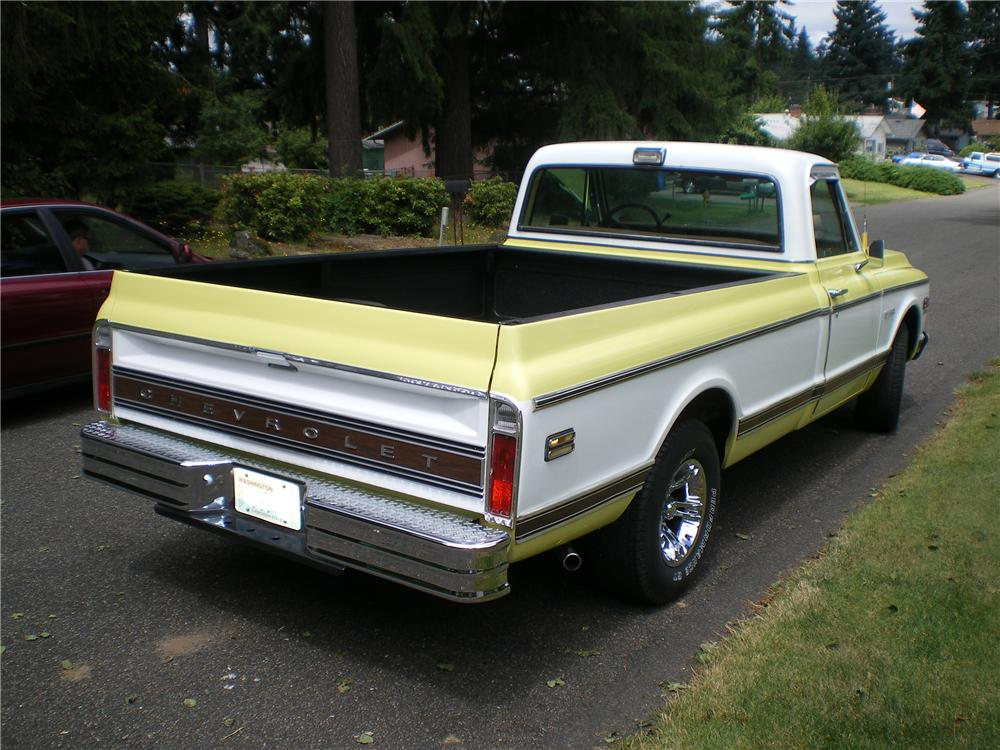 1972 CHEVROLET C-10 LONG BED PICKUP - Rear 3/4 - 93439