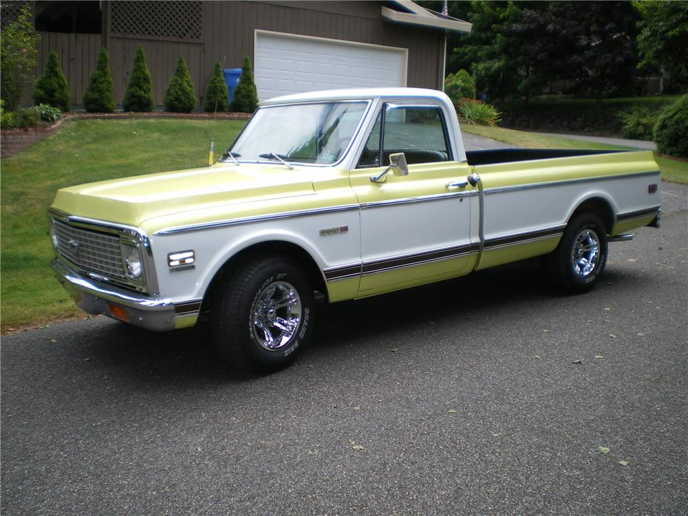 1972 CHEVROLET C-10 LONG BED PICKUP - Side Profile - 93439
