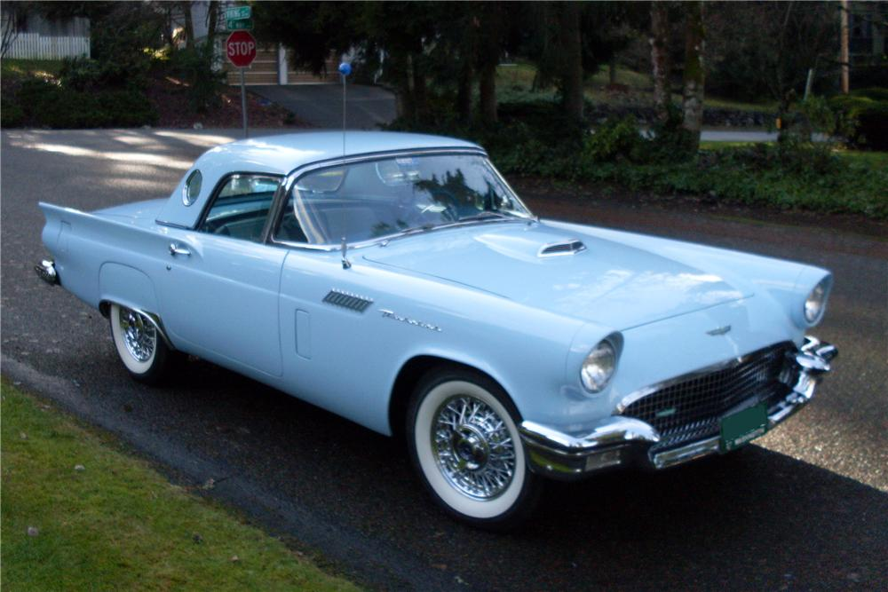 1957 FORD THUNDERBIRD CONVERTIBLE - Front 3/4 - 93440