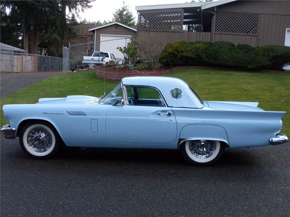 1957 FORD THUNDERBIRD CONVERTIBLE - Side Profile - 93440