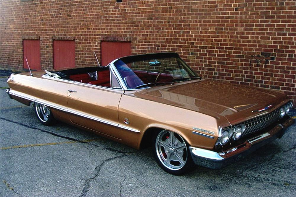 1963 CHEVROLET IMPALA CUSTOM CONVERTIBLE - Front 3/4 - 93447