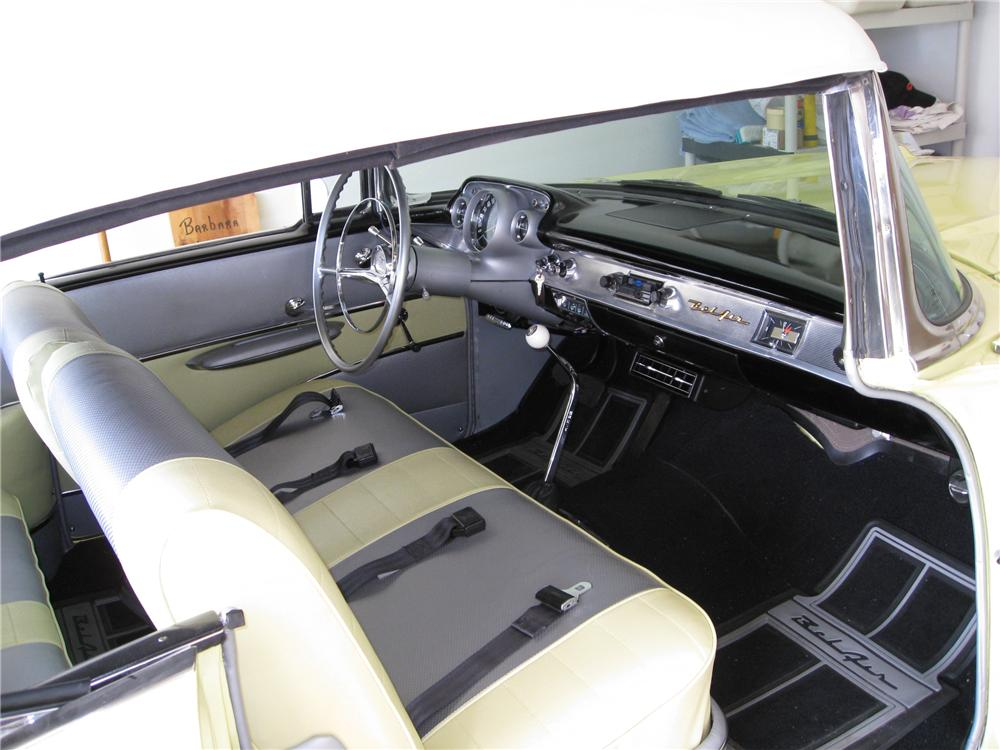1957 CHEVROLET BEL AIR CUSTOM CONVERTIBLE - Interior - 93449