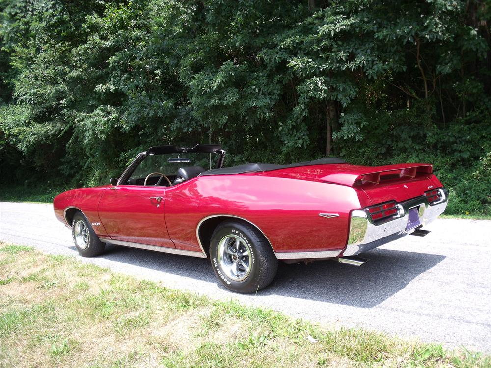 1969 PONTIAC GTO CONVERTIBLE - Rear 3/4 - 93450