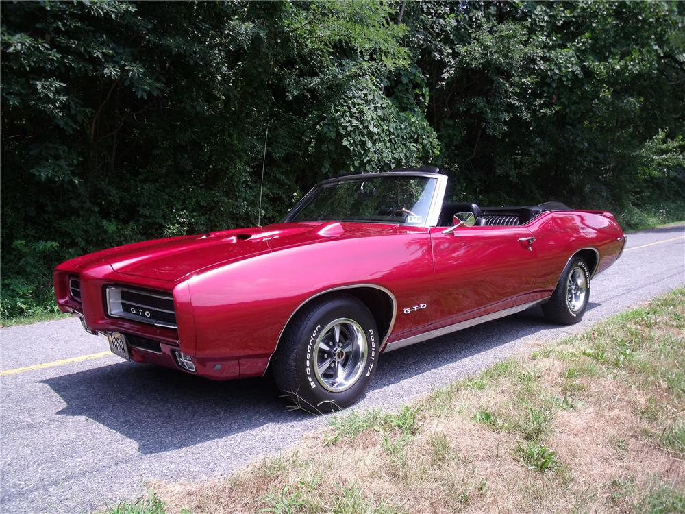 1969 PONTIAC GTO CONVERTIBLE - Side Profile - 93450
