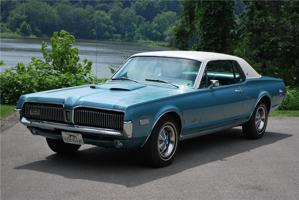 1968 MERCURY COUGAR XR7 COUPE - Front 3/4 - 93452