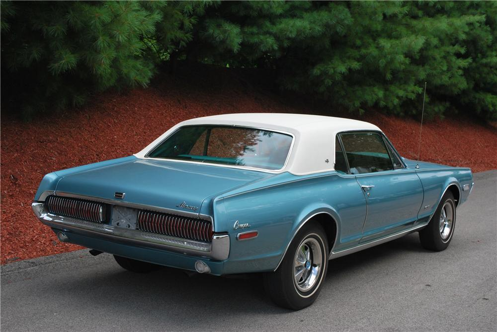 1968 MERCURY COUGAR XR7 COUPE - Rear 3/4 - 93452