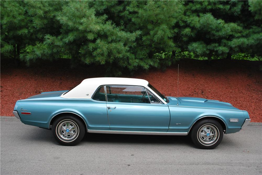 1968 MERCURY COUGAR XR7 COUPE - Side Profile - 93452