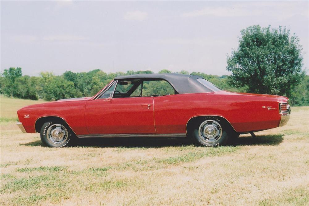 1967 CHEVROLET CHEVELLE SS 396 CONVERTIBLE - Side Profile - 93461