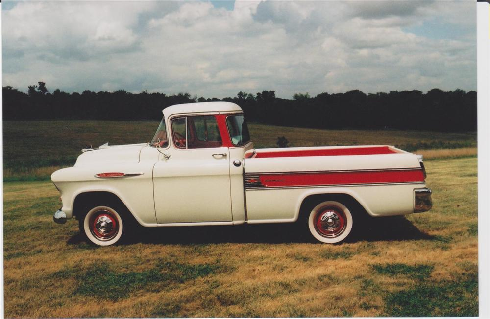 1957 CHEVROLET CAMEO PICKUP - Side Profile - 93462