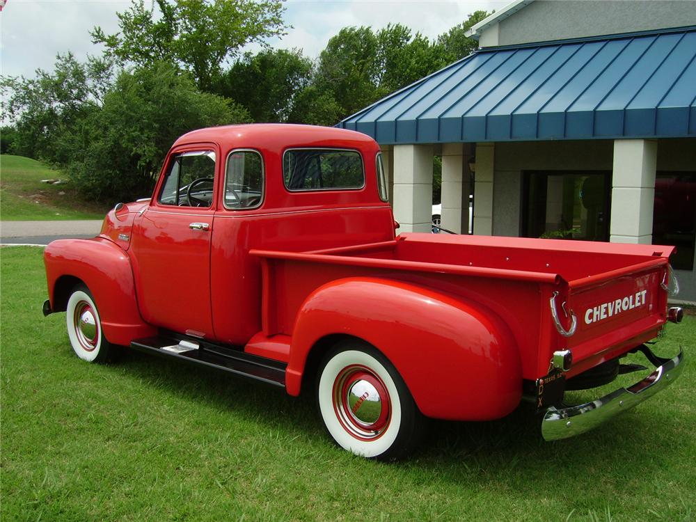 1952 CHEVROLET PICKUP - Rear 3/4 - 93471