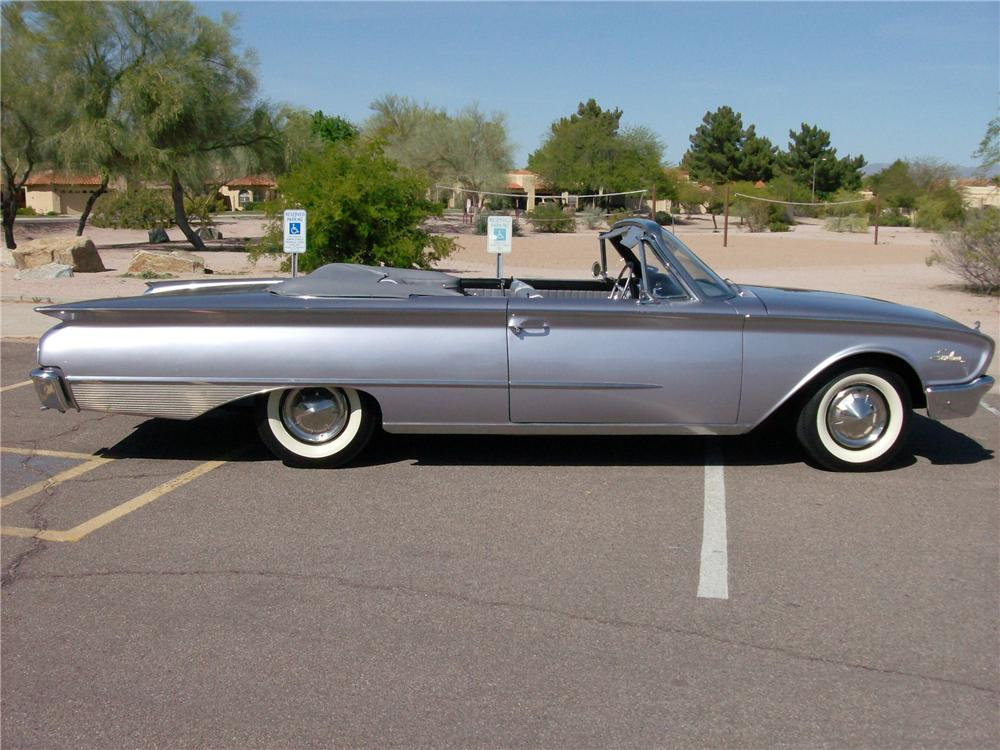 1960 FORD GALAXIE SUNLINER CONVERTIBLE - Side Profile - 93477