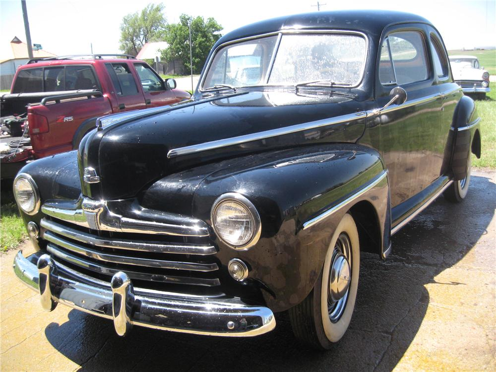 Front Web on 1946 ford super deluxe coupe