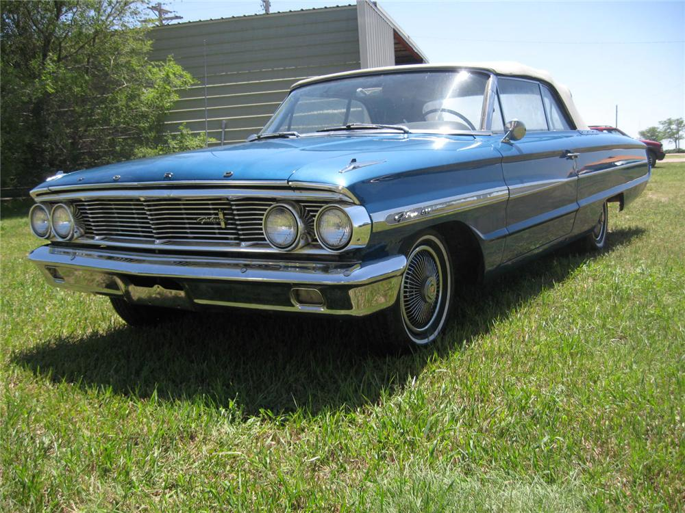 1964 FORD GALAXIE 500 CONVERTIBLE - Front 3/4 - 93490