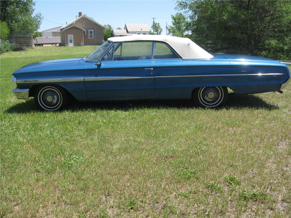 1964 FORD GALAXIE 500 CONVERTIBLE - Side Profile - 93490