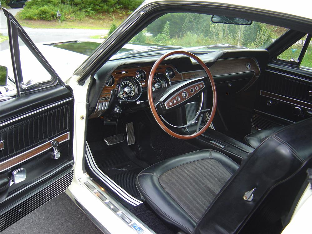 1968 FORD MUSTANG GT 2 DOOR FASTBACK - Interior - 93493