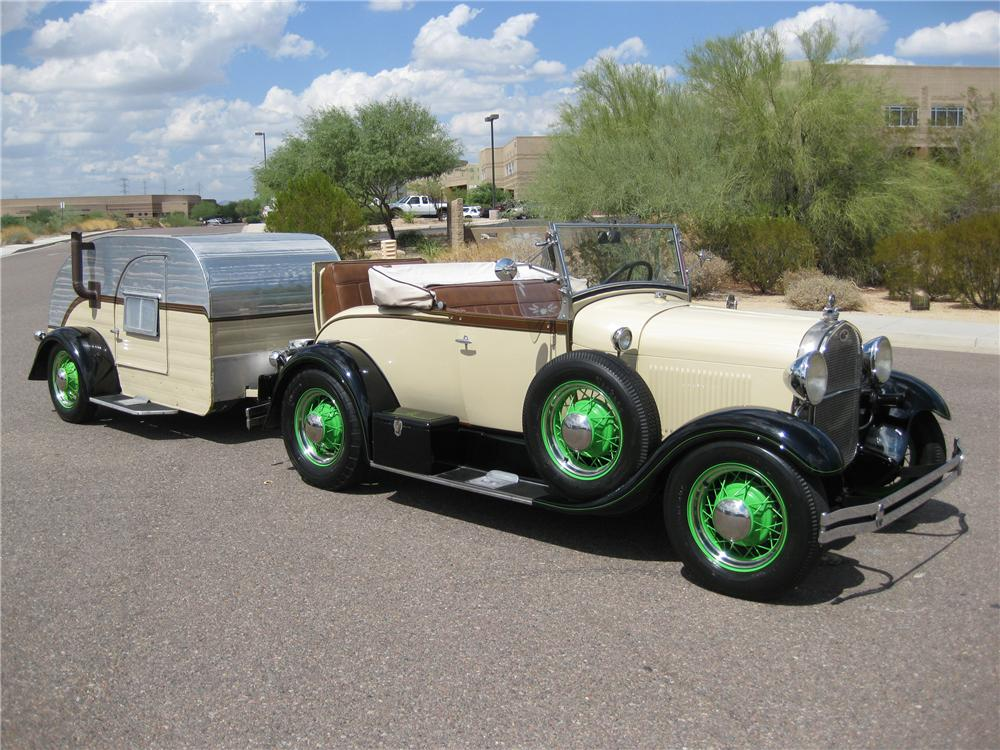 1929 FORD MODEL A ROADSTER - Front 3/4 - 93505