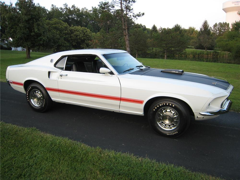 1969 FORD MUSTANG MACH 1 428 SCJ FASTBACK - Side Profile - 93510