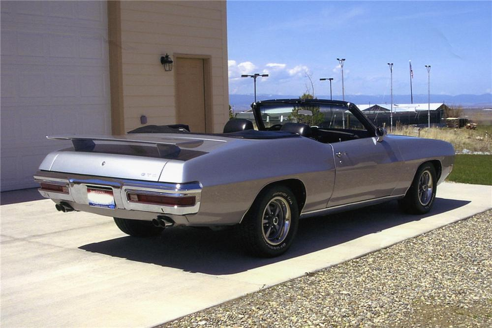 1970 PONTIAC GTO CONVERTIBLE - Rear 3/4 - 93513