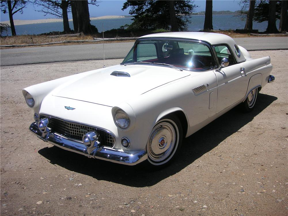 1956 FORD THUNDERBIRD CONVERTIBLE - Front 3/4 - 93516