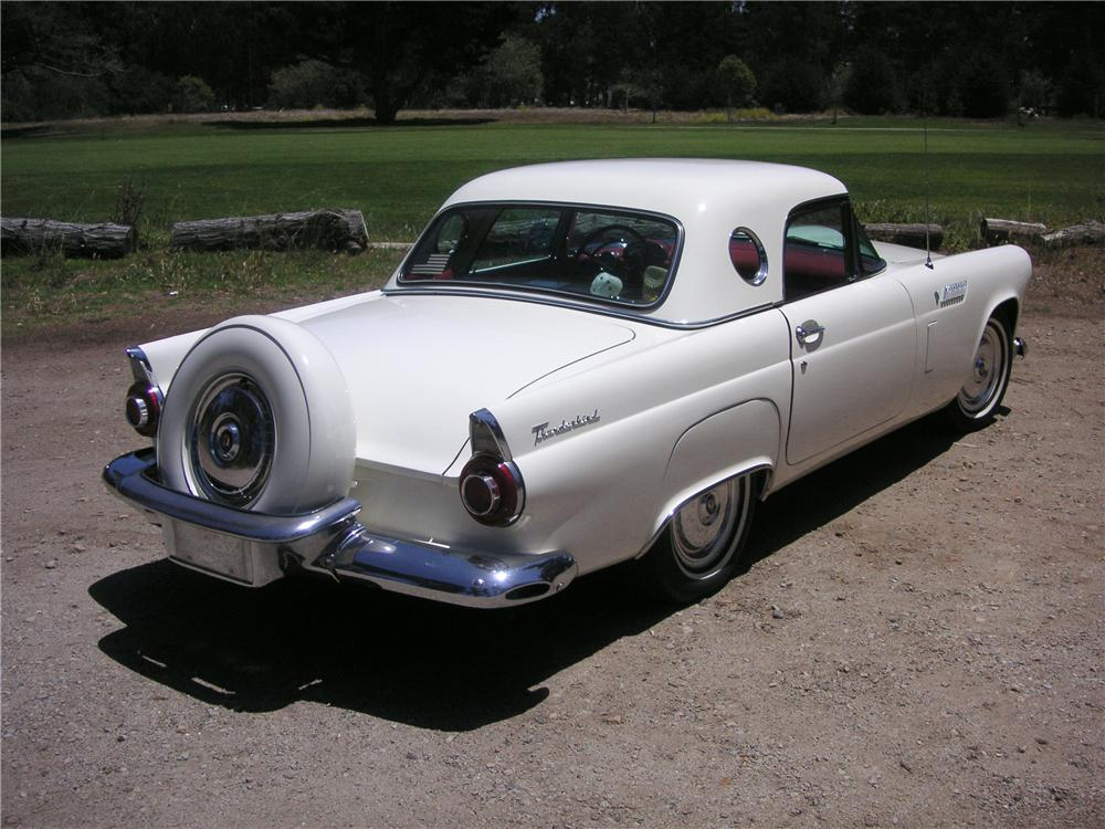 1956 FORD THUNDERBIRD CONVERTIBLE - Rear 3/4 - 93516