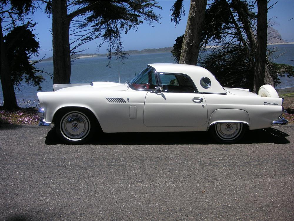 1956 FORD THUNDERBIRD CONVERTIBLE - Side Profile - 93516