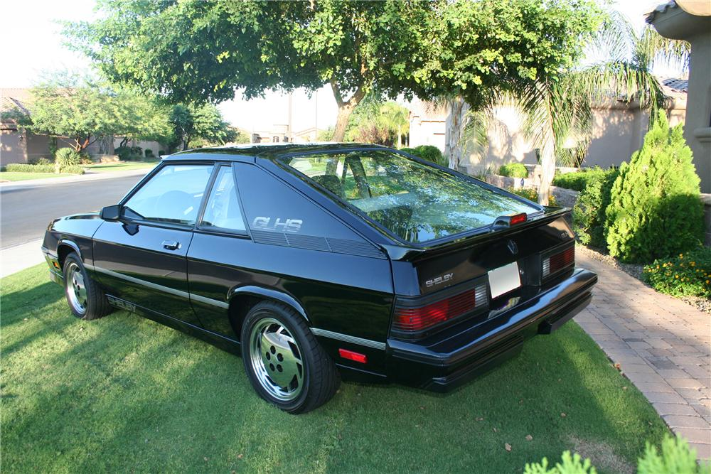 1987 DODGE CHARGER GLH-S 2 DOOR COUPE - Rear 3/4 - 93524