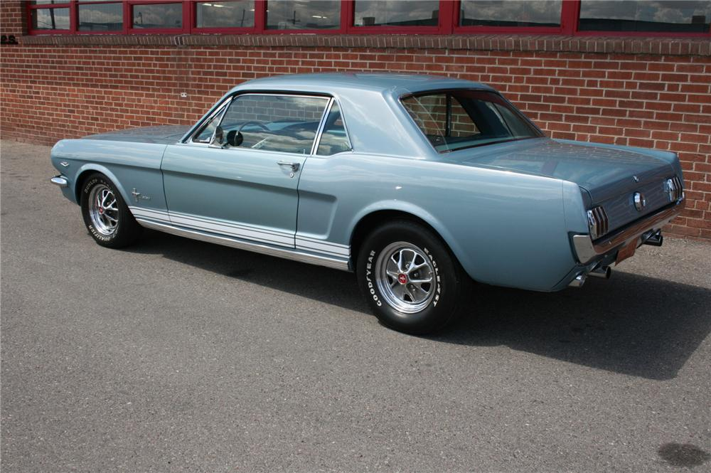 1965 FORD MUSTANG COUPE - Rear 3/4 - 93541
