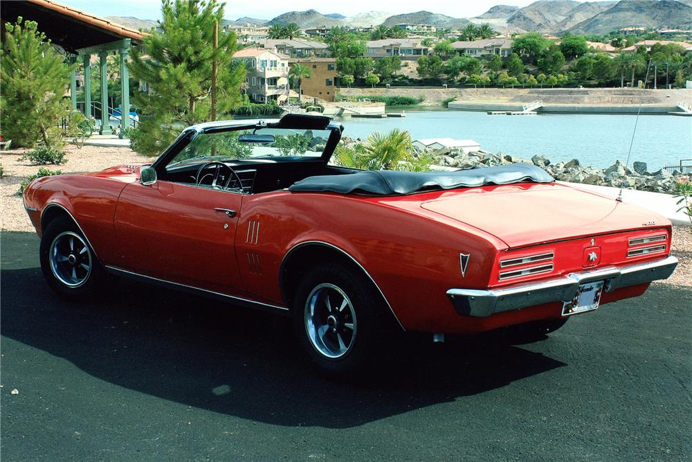 1968 PONTIAC FIREBIRD CONVERTIBLE - Rear 3/4 - 93546