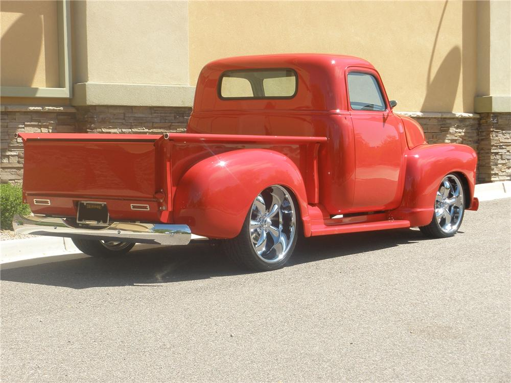 1948 CHEVROLET 3 WINDOW CUSTOM PICKUP - Rear 3/4 - 93558