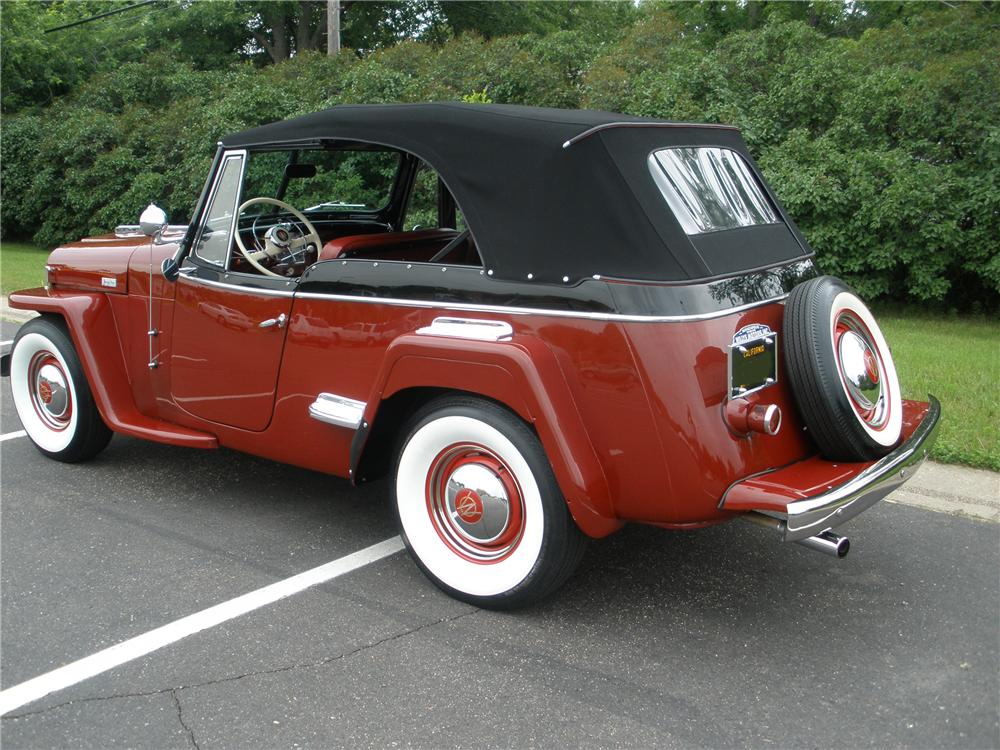 1948 WILLYS JEEPSTER 2 DOOR CONVERTIBLE - Rear 3/4 - 93568
