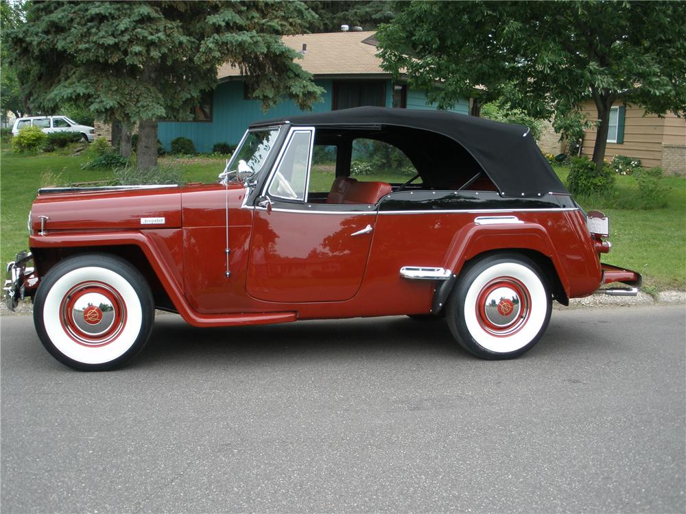 1948 WILLYS JEEPSTER 2 DOOR CONVERTIBLE - Side Profile - 93568