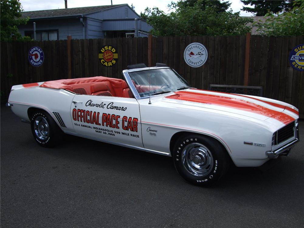 1969 CHEVROLET CAMARO SS PACE CAR CONVERTIBLE - Front 3/4 - 93573