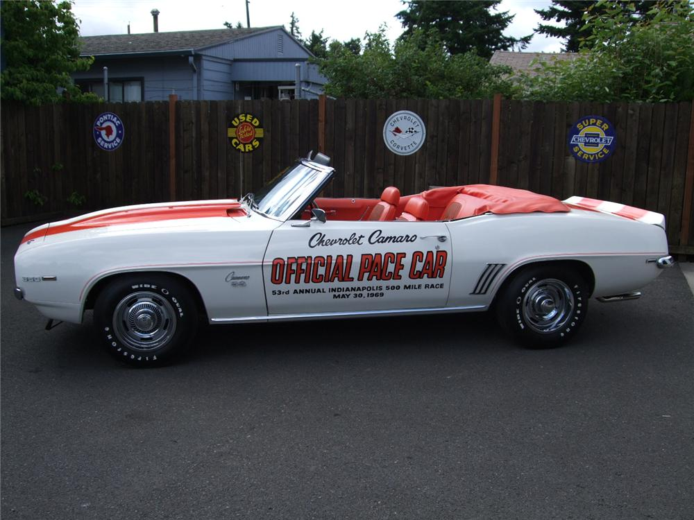 1969 CHEVROLET CAMARO SS PACE CAR CONVERTIBLE - Side Profile - 93573