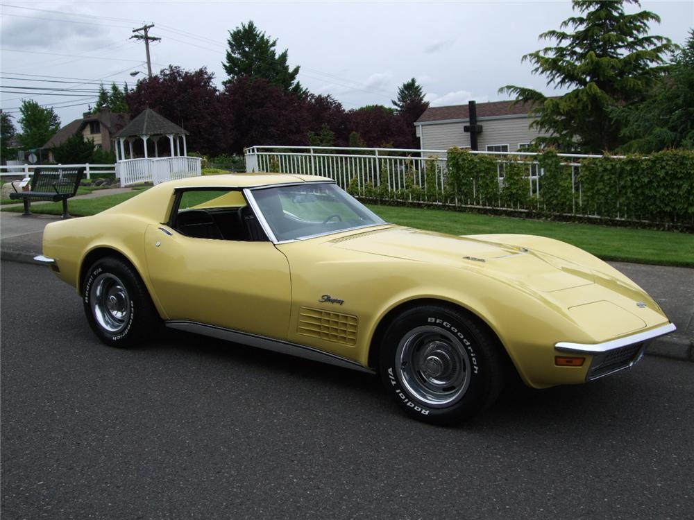 1970 CHEVROLET CORVETTE 2 DOOR COUPE - Front 3/4 - 93575