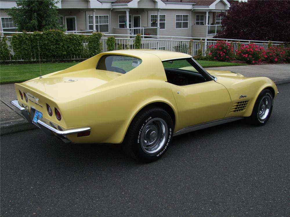 1970 CHEVROLET CORVETTE 2 DOOR COUPE - Rear 3/4 - 93575