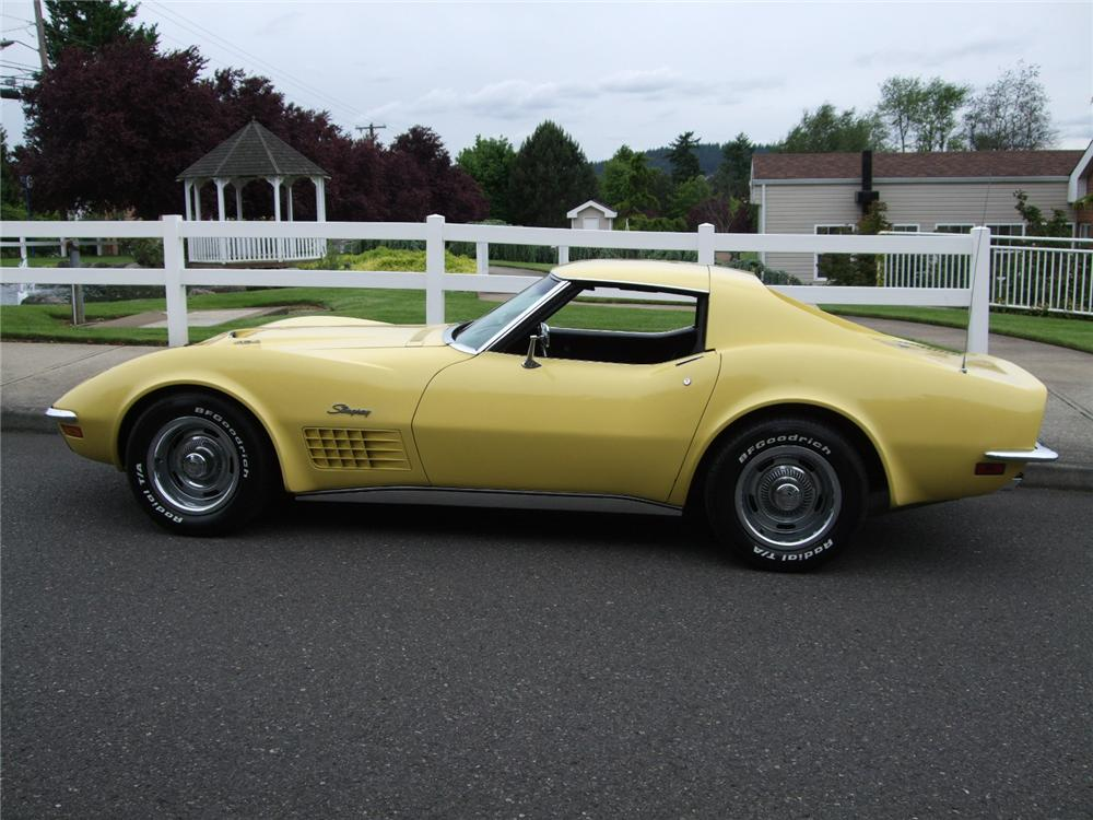 1970 CHEVROLET CORVETTE 2 DOOR COUPE - Side Profile - 93575