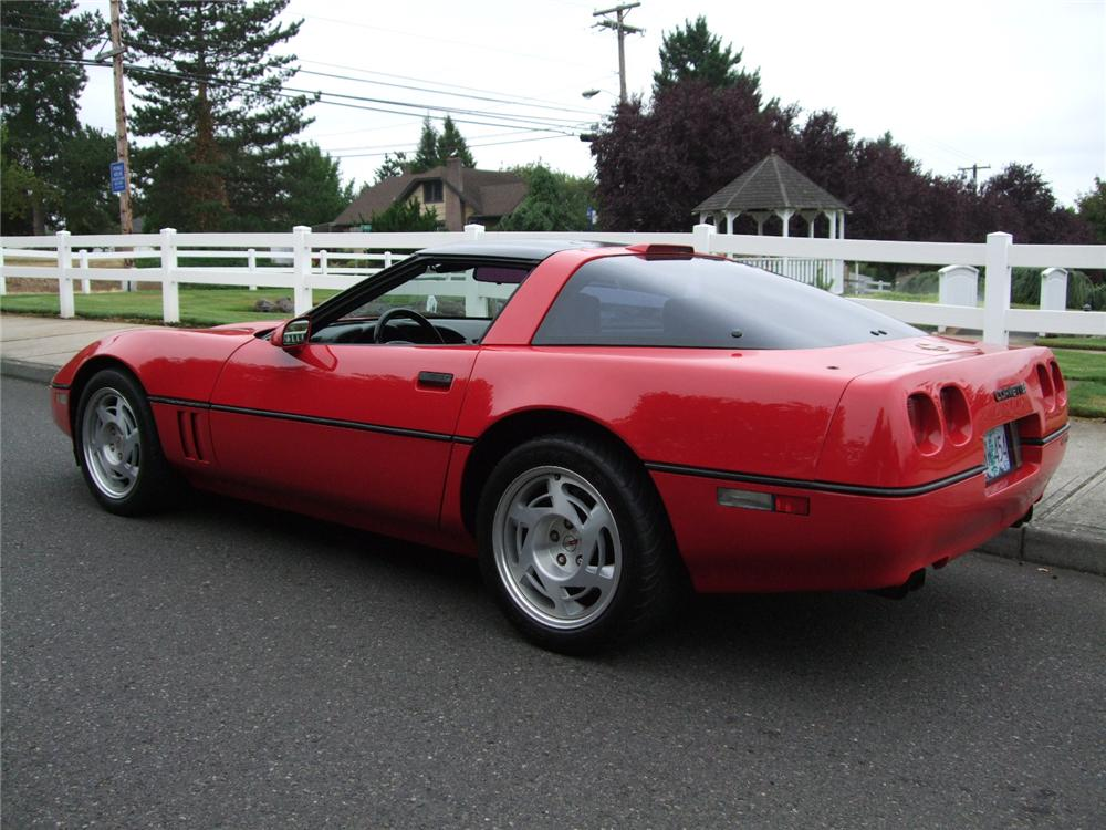 1990 CHEVROLET CORVETTE ZR1 COUPE - Rear 3/4 - 93577